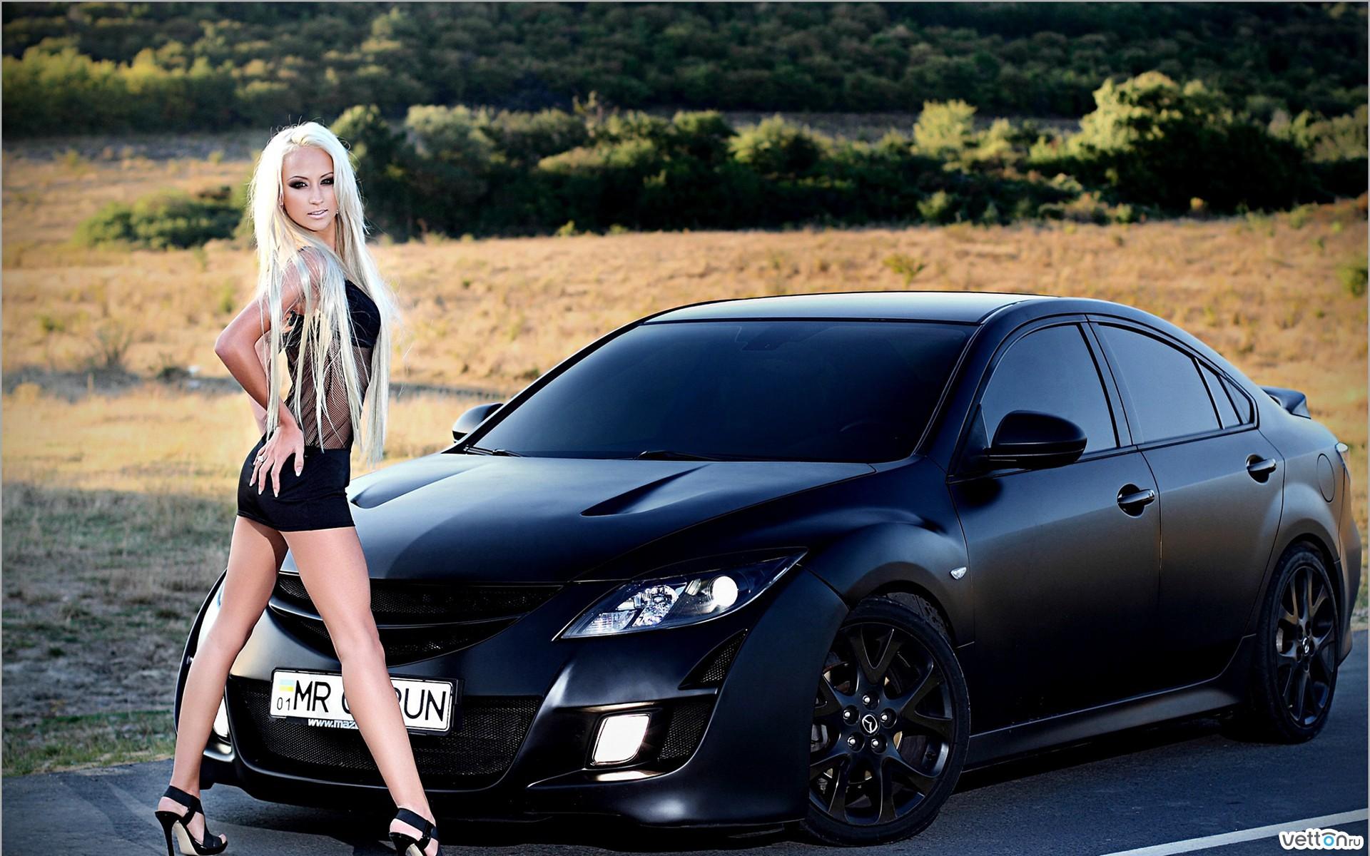 Фото девушки и автомобили 22 фотография