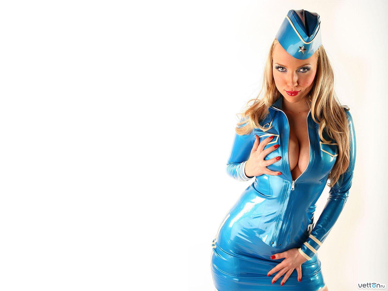 Фото стюардессы блондинки 4 фотография
