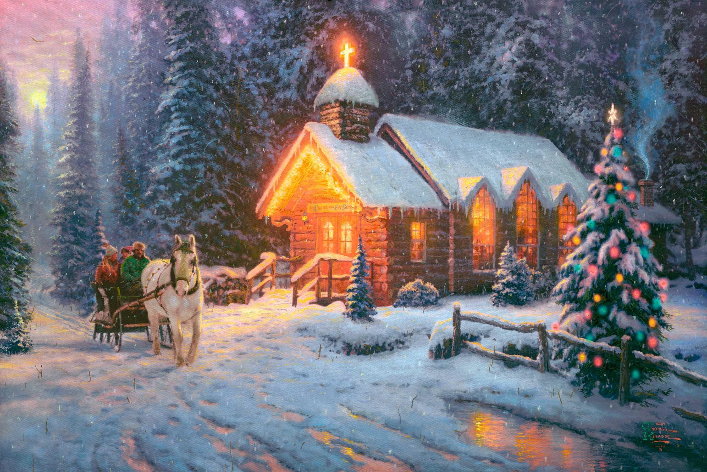 Рождественские открытки обои на рабочий стол