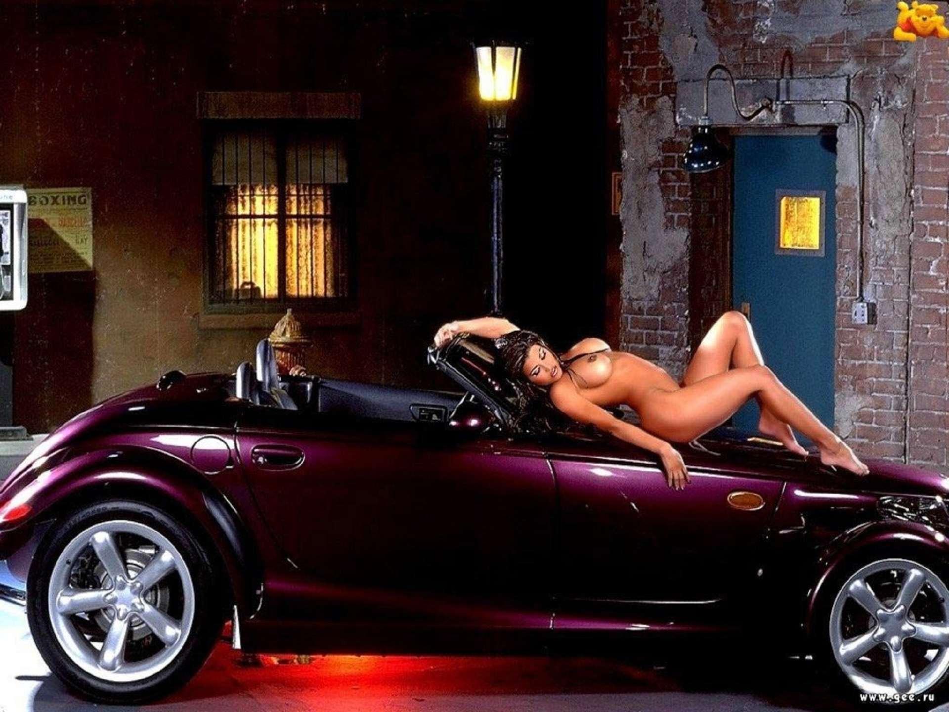 Фото голой девушки на авто 16 фотография