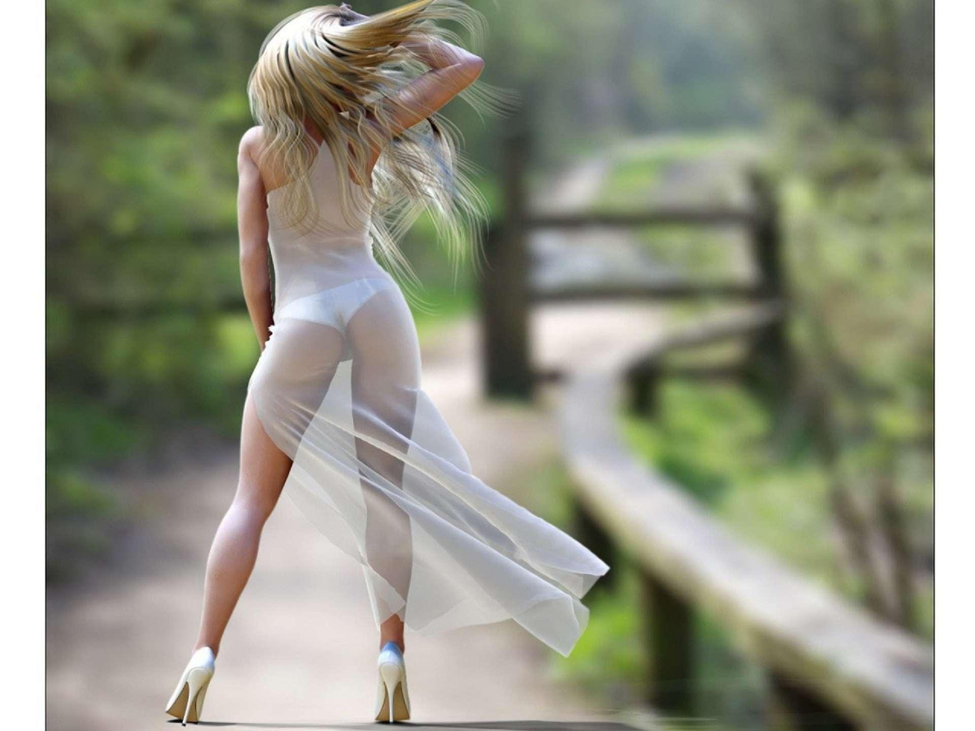 Фото красивых девушек в прозрачных платьях 12 фотография